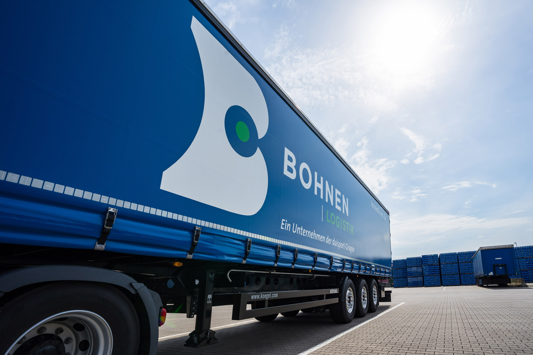 Bohnen Logistik Lkw duisport