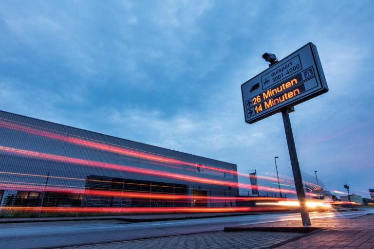 Verkehrsleitsystem und Integrated Truck Guidance bei duisport