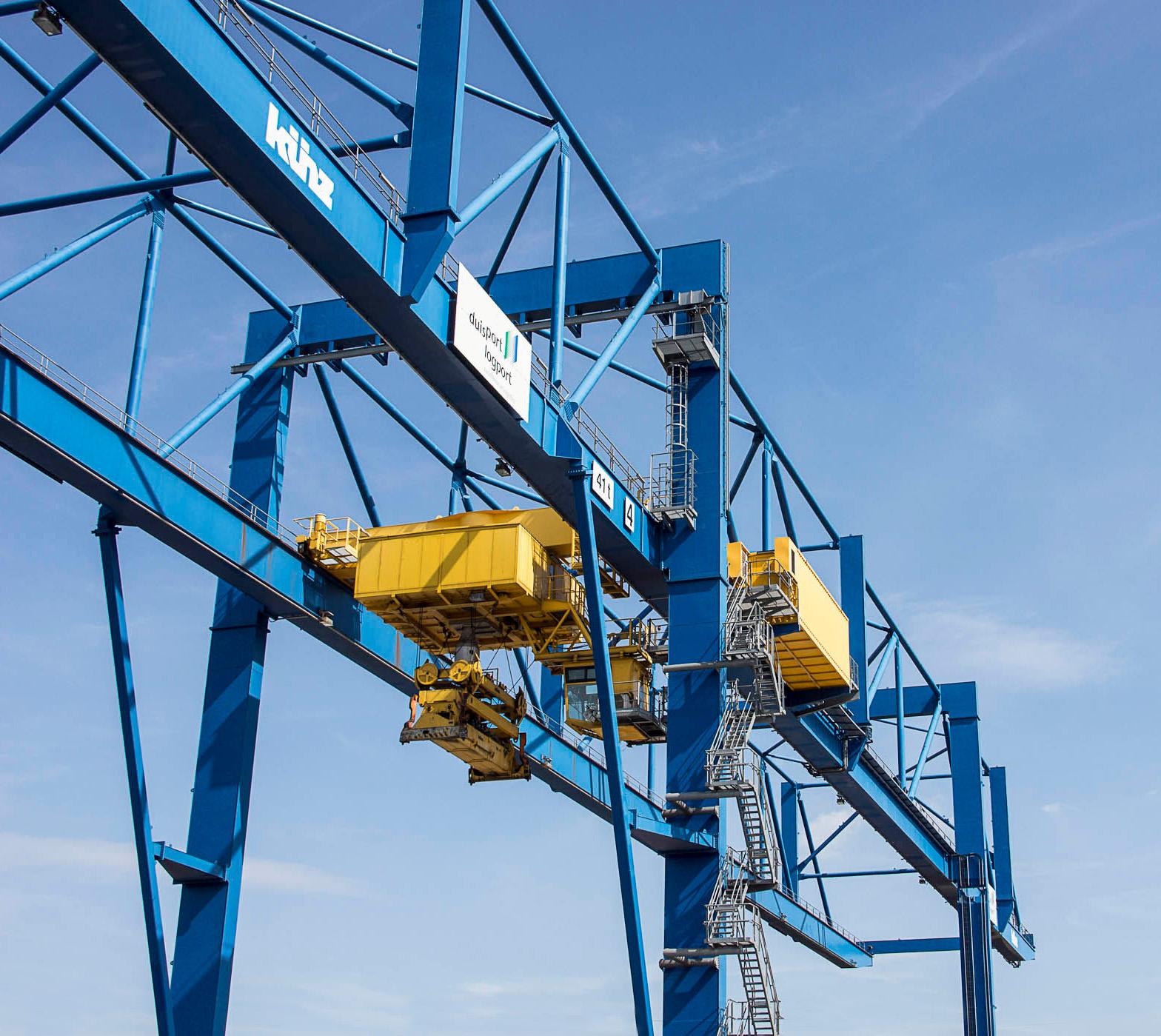 duisport logport Containerstau