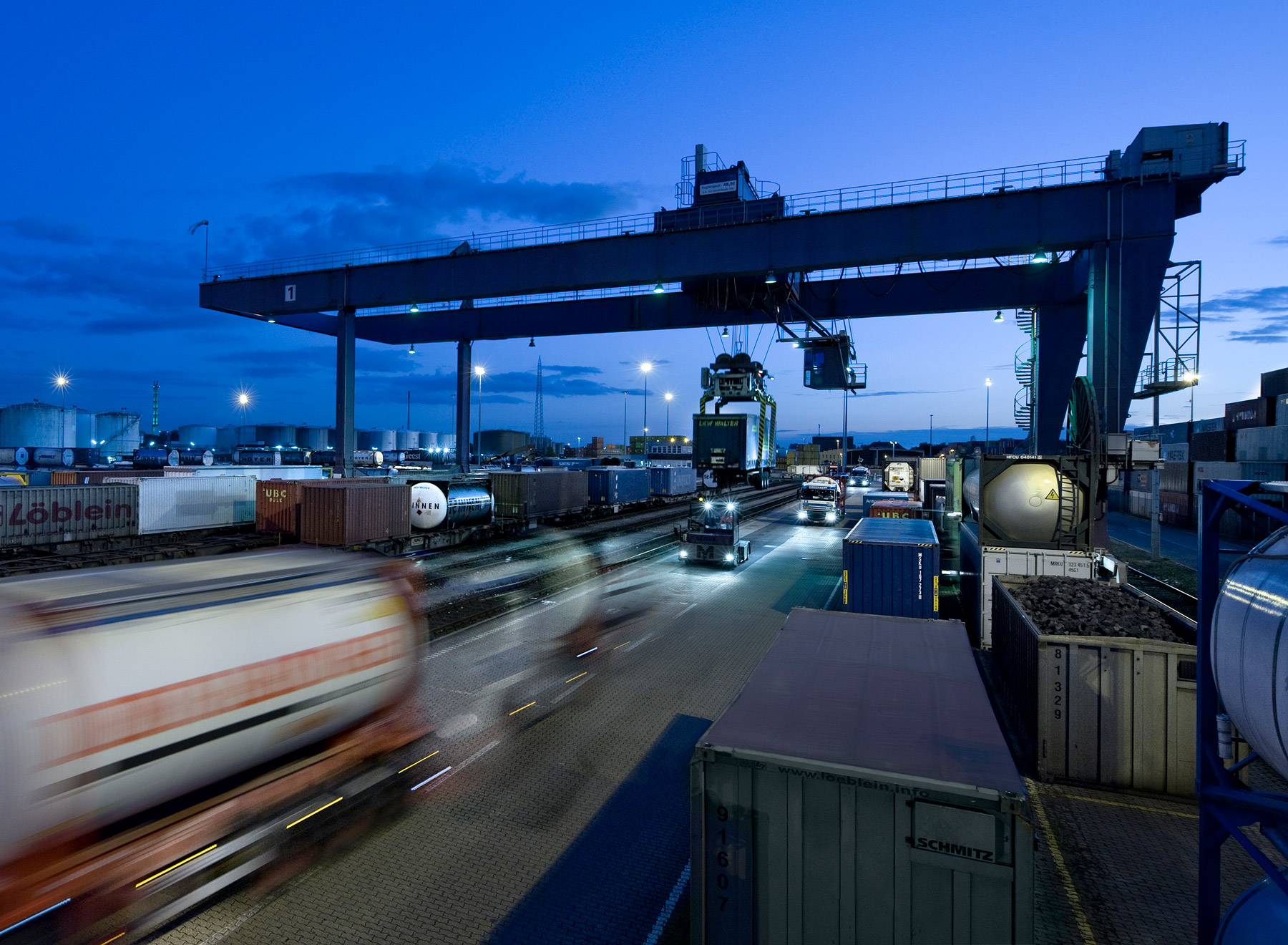 Terminal 2 Containerstau