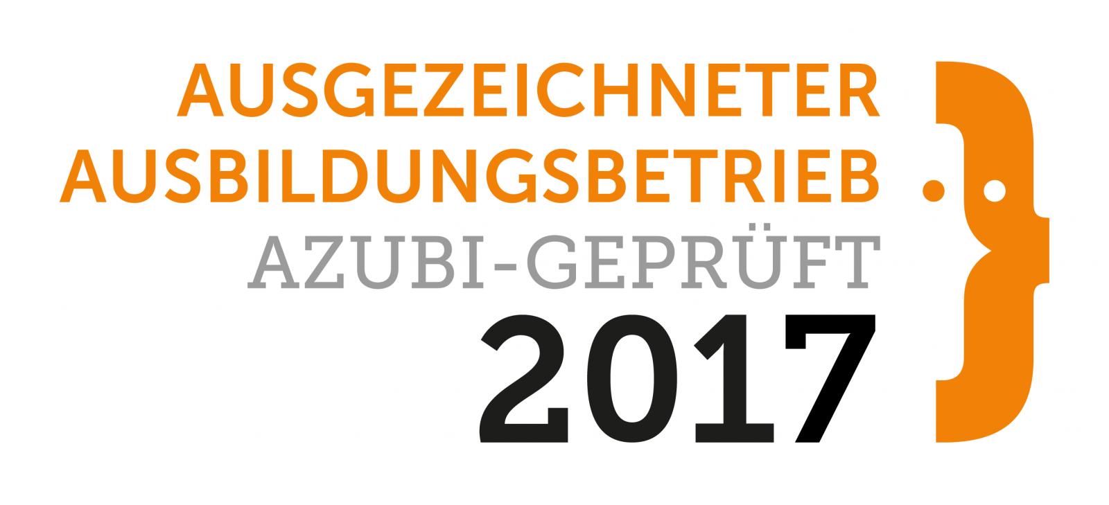 Ausgezeichneter Ausbildungsbetrieb 2017 - Auszeichnung