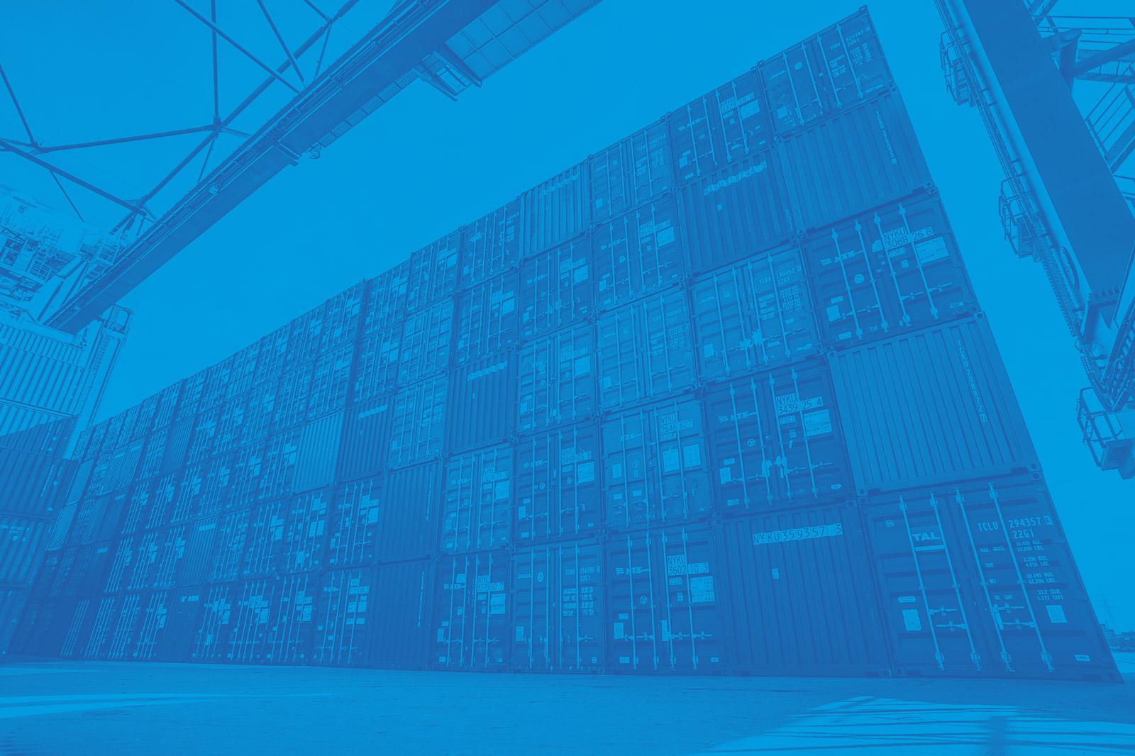 Containerstau bei duisport