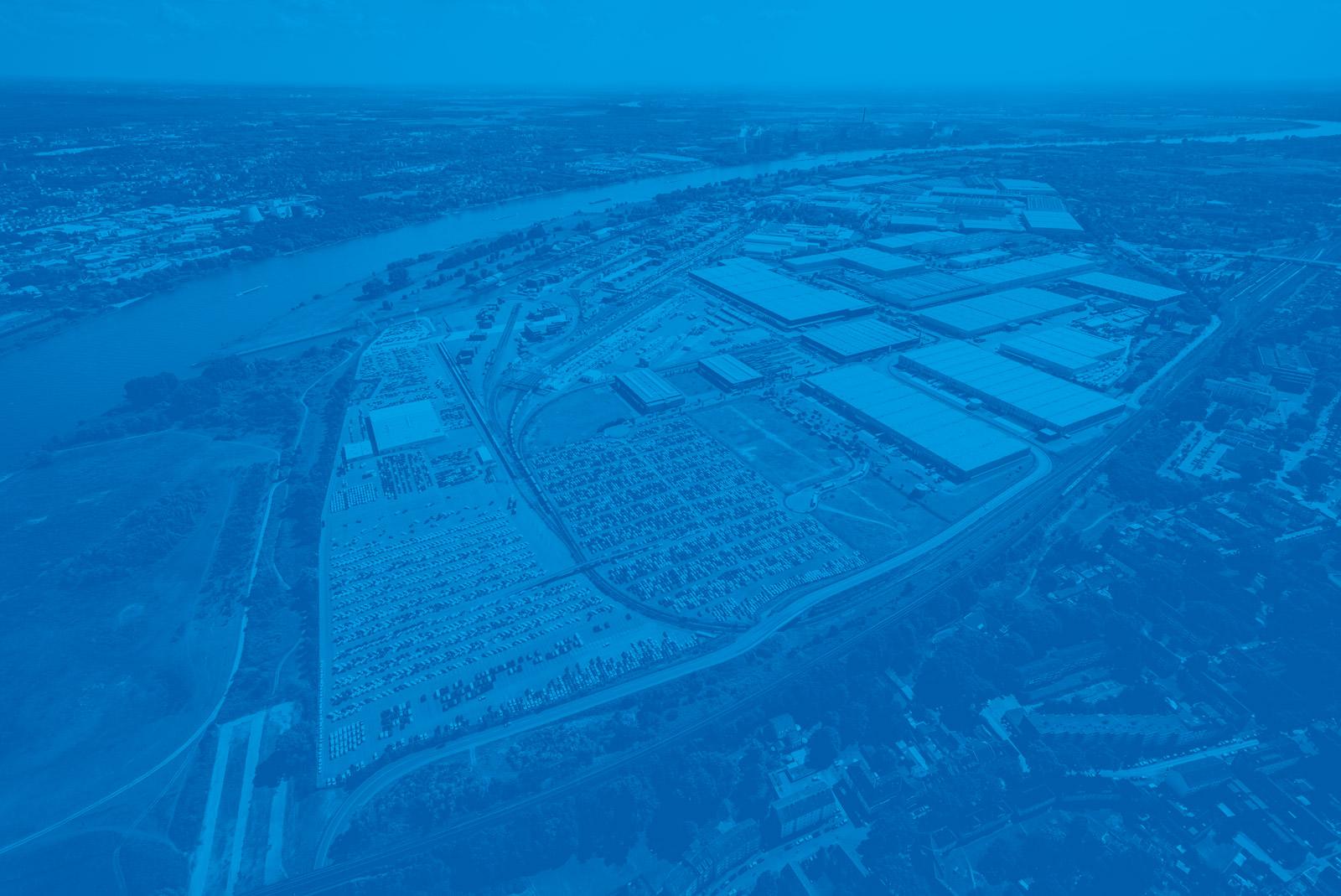 duisport Gelände blau