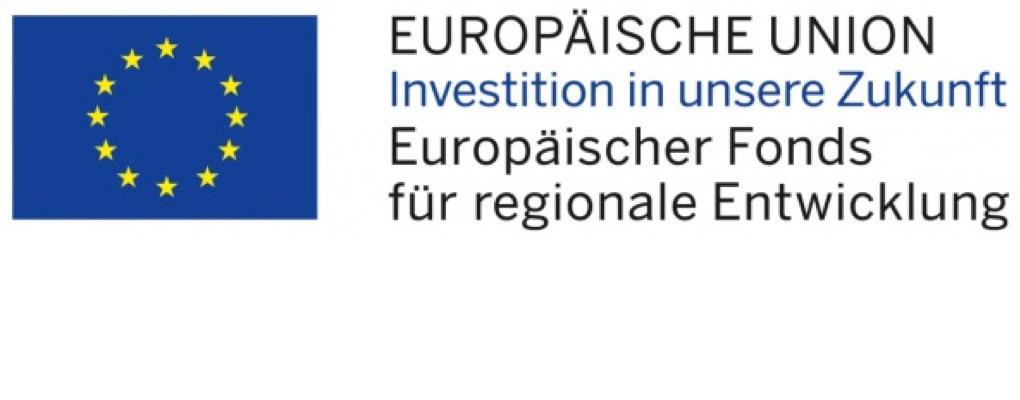 Europäische Unionen Europäischer Fonds für regionale Entwicklung Logo