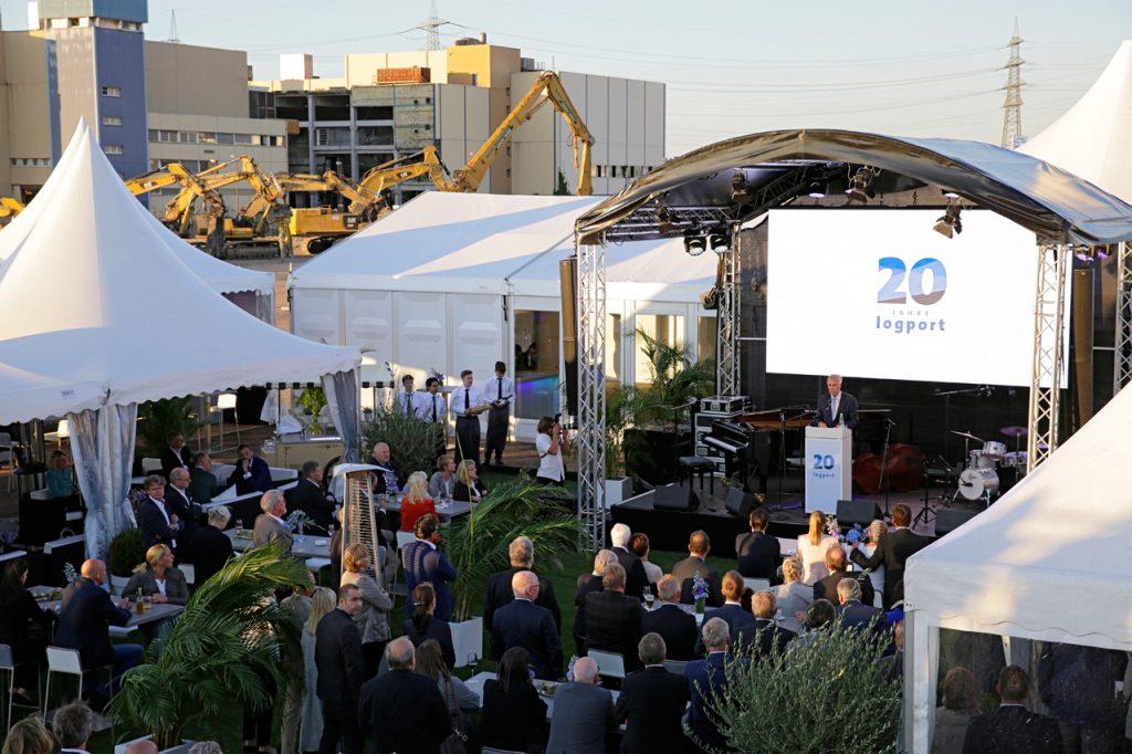 20 Jahre logport – ein feierlicher Anlass auf dem Areal von logport VI.