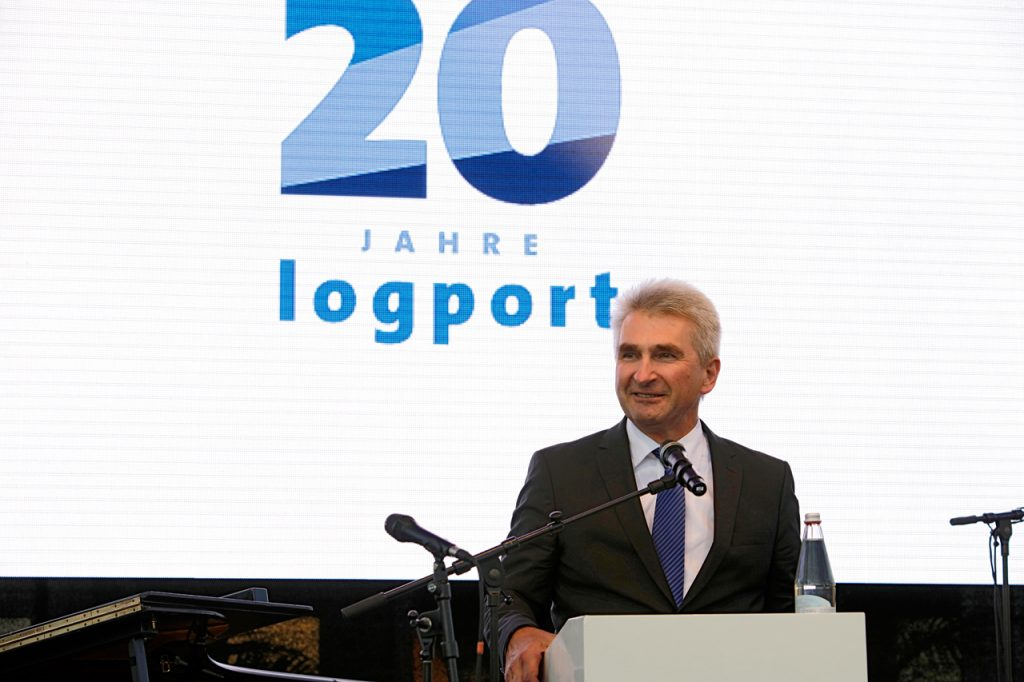 NRW Wirtschaftsminister Pinkwart bei seiner Rede.