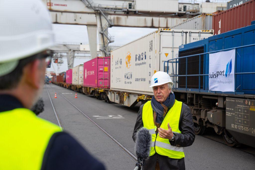 Regelmäßiger Zugverkehr mit Wuhan wieder aufgenommen / Statement Erich Staake, Vorsitzender des Vorstandes der Duisburger Hafen AG