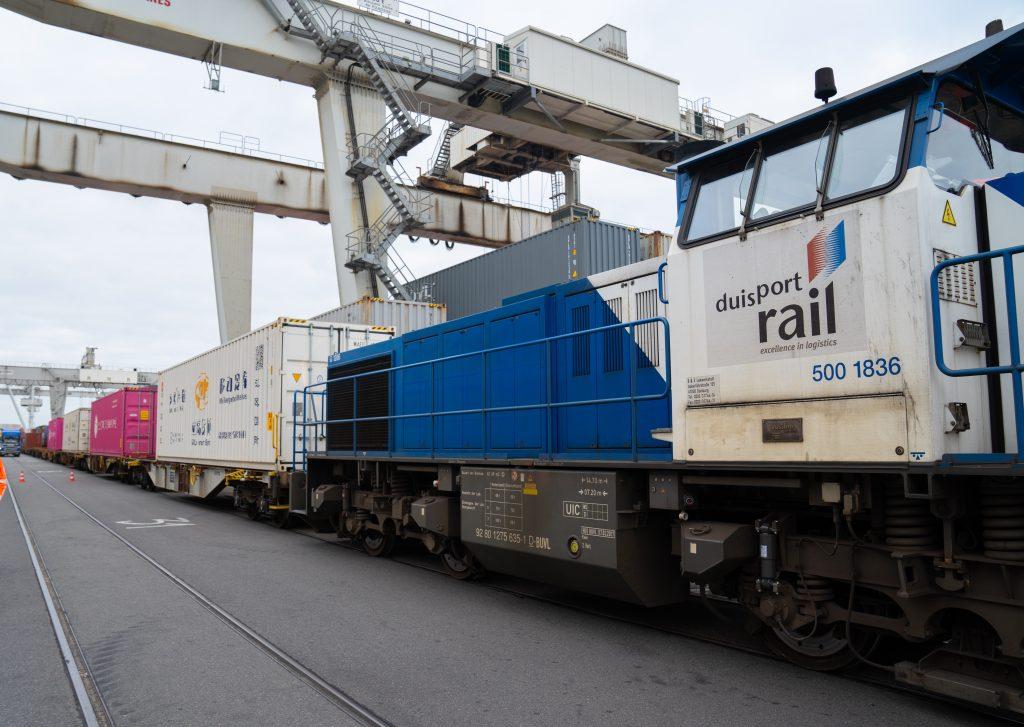 Chinazug aus Wuhan im Duisburger Hafen